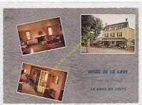CPSM 50250 LA HAYE DU PUITS Hotel de la gare multivues Edit ARTAUD