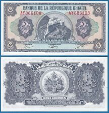 Haiti 2 Gourdes P 245A L.1979 UNC Low Shipping! Combine FREE! (245 A)