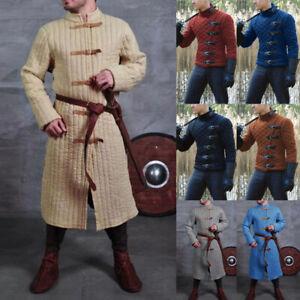 Medieval Gambeson Viking Men Jacket Coat Armor Warrior Knight Halloween Cosplay