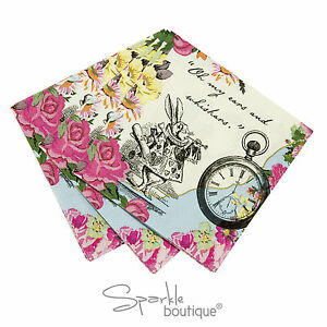 Truly Alice in Wonderland PAPER NAPKINS-Mad Hatters Tea Party-FULL RANGE IN SHOP