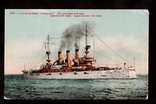 c.1908 u.s.battleship louisiana navy military ship postcard