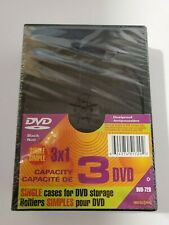 Package of 3 Black Single DVD Cases - NEW