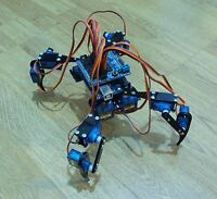"Quadruped Four Feet Robot ""Hexapod"" Spider Arduino DIY Robot KIT 12DOF NO SERVOS"