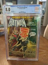 BATMAN THE BRAVE AND THE BOLD 92 CGC 8.0 BAT SQUAD DC COMICS
