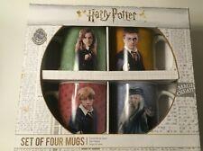 Harry Potter Collectors Collectible Mug Cup Set 4 Nib New