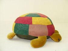 schöne alte Stoffschildkröte - 70er Jahre Sofa Deko, Stofftier, Schildkröte