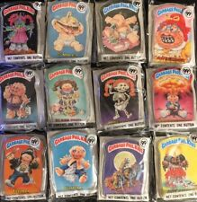 1986 Topps Garbage Pail Kids Buttons Original New in Package! Set of 12 FREE S+H