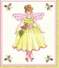 Northcott Bella Ballerina Doll Ballet Shoes Quilt Fabric Block Panel Shabby Pink