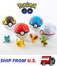 4 x Pokemon Throw Pop PokeBall Cosplay Pop-up Elf Go Fighting Poke Ball Toy US