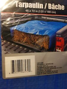 Tool Bench Hardware Blue Lightweight Mesh Plastic Cover Tarp 4x6 Feet Brand New