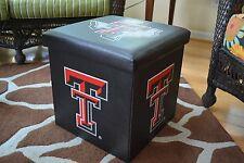 Texas Tech Red Raiders Folding Storage Ottoman