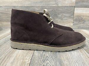 Clarks ORIGINALS Desert Aerial Chukka Boots | Burgundy | Size 11 | Lightweight