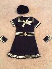 Girls Sailor Girl Costume.  Size S about 3-5 with accesaries. Buy Early!!!