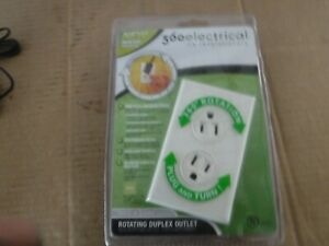 """NEW. 360 ELECTRICAL ROTATING DUPLEX OUTLET """"ALMOND"""" #36012-A -"""