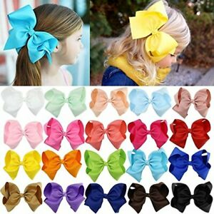 """6"""" Hair Bow Clip Jojo Style Girls Teens Kids Toddlers Large School Dance Party"""