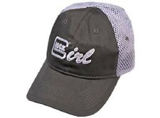 Ladies/Women's GLOCK GIRL Grey Mesh Hat/Cap Pistol/Handgun/Firearm FAST FREE S&H