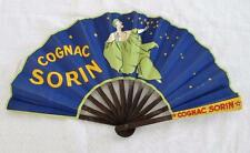"VINTAGE 1920's ART DECO ""COGNAC SORIN"" PRINTED FLAPPER ADVERTISING FAN- PIERROT"
