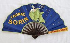 "VINTAGE 1920's ART DECO ""COGNAC SORIN"" PRINTED FLAPPER ADVERTISING FAN- PIERROT"