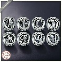 Authentic Pandora™ Real 925 Sterling Silver Vintage Clear Letter Bead A-Z Letter