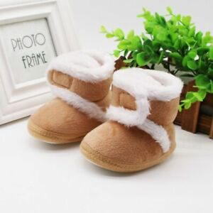 Newborn Toddler Boots Winter First Walkers baby Girls Boys Shoes Soft Fur Snow