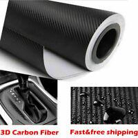 "12""x50"" 3D Carbon Fiber Vinyl Car Wrap Sheet Roll Film Sticker Decal Sales Hot"