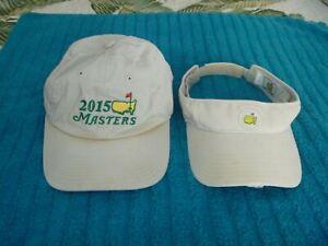 LOT 2 THE MASTERS GOLF TOURNAMENT BASEBALL CAP HAT VISOR MESN WOMENS BEIGE