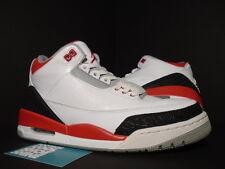 2013 Nike Air Jordan III 3 Retro WHITE FIRE RED BLACK CEMENT GREY 136064-120 9