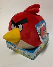 """Angry Birds Red Bird 8"""" large plush toy (BNWT) Mint in box"""