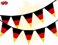 Germany Full Flag Patriotic Themed Bunting Banner 15 Triangle flags National