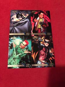 Batman Forever 1995 Fleer Ultra Target Uncut 4 Card Promo Sheet 5x7