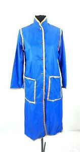 1970's Raincoat Vintage Blue single breasted nylon SEARS winter spring button up