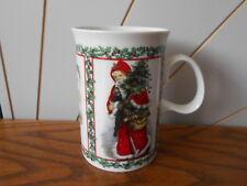 MERRY CHRISTMAS stoneware mug DUNOON adapted from Victorian Prints SANTA/TREE
