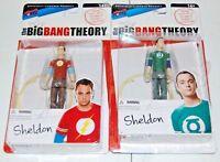 The Big Bang Theory Sheldon 3 3/4 Inch Action Figure Set (4) NEW!!!  FREE S/H