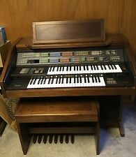 Yamaha Electone FS-300 Play Assist Synthesizer Console Electronic Organ W/Bench