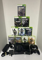 WOW! 500GB CALL OF DUTY COD S Xbox 360 Black Console Bundle 2 Controllers HDMI