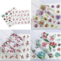 3D Flower Decals Water Film Paper Manicure Decor Tips Nail Art Transfer Stickers
