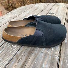 Birkenstock Black Suede Betula Clogs Mules Size 8