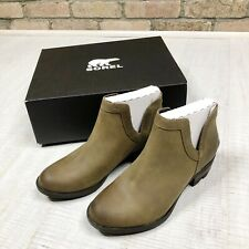 Sorel boot Lolla cutout leather bootie size 5 new Woman Ankle Shoes