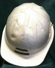 Vintage Bf McDonald Co Aluminum Metal Safety Hard Hat Mining Oil Construction
