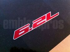 "CAMARO ""6.2L"" Emblem Badge Mirror Stainless Steel + Color"