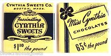 Cynthia Sweets FRIDGE MAGNET Set (2 x 2 inches each) chocolate candy sign