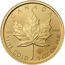 ON SALE! 2017 1 oz Canadian Gold Maple Leaf Coin (BU)