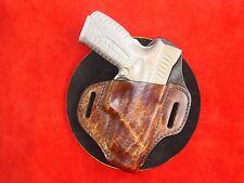 Springfield Armory XD  XDM 9 mm .40 Burnish brown leather holster Kwik & Free