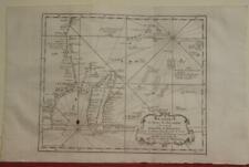 MADAGASCAR SEYCHELLES REUNION MAURITIUS COMOROS 1746 BELLIN ANTIQUE SEA CHART