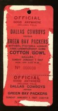 1966 NFL Championship Game Press Pass Packers v Cowboys 1/1/67 Cotton Bowl 40793