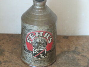 """FEHRS.  XL BEER SOLID.   COLORFUL. CONE TOP. """"SILVER. BUMPER"""""""