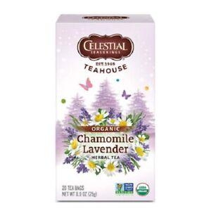 Celestial Seasonings Teahouse Organic Tea Chamomile Lavender