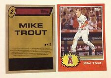 MIKE TROUT #2 LA Angels MVP #ed/49 made 5x7 2015 Topps MLB Star Wars Tribute
