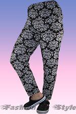 Fashion Trend Slinky Legging Leggings Legin Stretchleggins 7//8 lang royal-blau