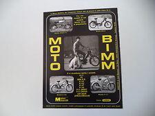 advertising Pubblicità 1972 MOTO BIMM CROSS P4 50/BILLO - E/Z M - P/3 T